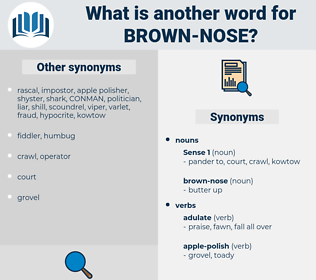 brown-nose, synonym brown-nose, another word for brown-nose, words like brown-nose, thesaurus brown-nose