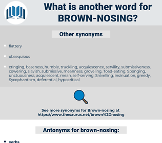 brown-nosing, synonym brown-nosing, another word for brown-nosing, words like brown-nosing, thesaurus brown-nosing