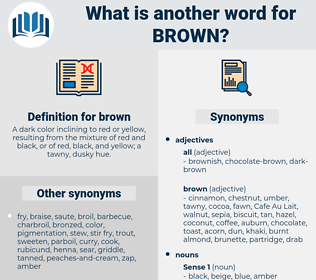 brown, synonym brown, another word for brown, words like brown, thesaurus brown
