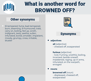 browned off, synonym browned off, another word for browned off, words like browned off, thesaurus browned off