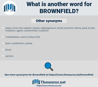 brownfield, synonym brownfield, another word for brownfield, words like brownfield, thesaurus brownfield