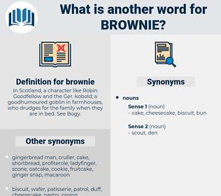 brownie, synonym brownie, another word for brownie, words like brownie, thesaurus brownie