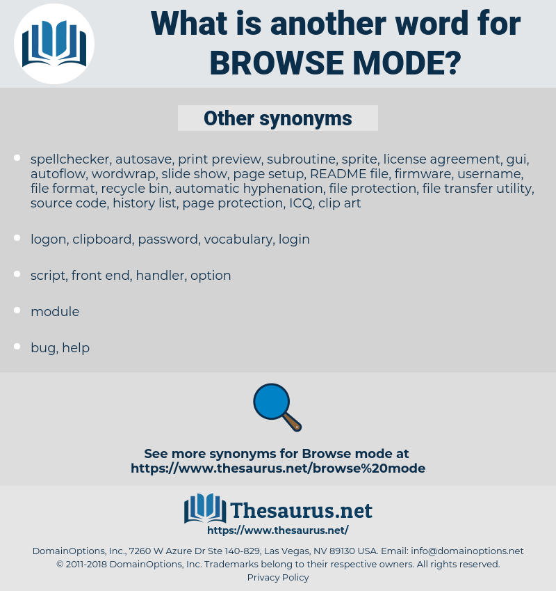 browse mode, synonym browse mode, another word for browse mode, words like browse mode, thesaurus browse mode