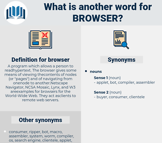 browser, synonym browser, another word for browser, words like browser, thesaurus browser