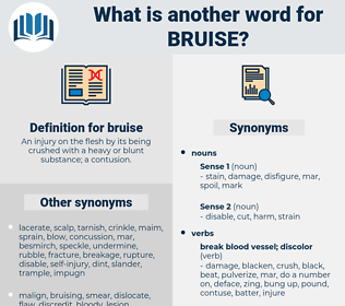 bruise, synonym bruise, another word for bruise, words like bruise, thesaurus bruise