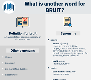 bruit, synonym bruit, another word for bruit, words like bruit, thesaurus bruit