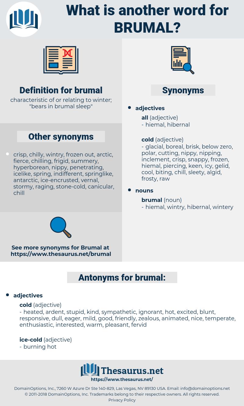 brumal, synonym brumal, another word for brumal, words like brumal, thesaurus brumal