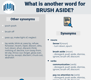 brush aside, synonym brush aside, another word for brush aside, words like brush aside, thesaurus brush aside