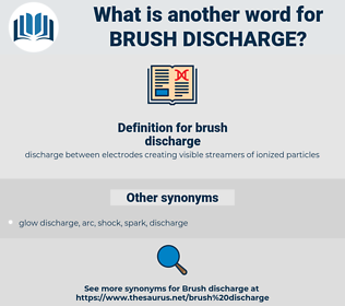 brush discharge, synonym brush discharge, another word for brush discharge, words like brush discharge, thesaurus brush discharge