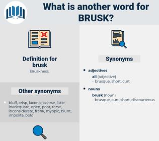 brusk, synonym brusk, another word for brusk, words like brusk, thesaurus brusk