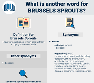 Brussels Sprouts, synonym Brussels Sprouts, another word for Brussels Sprouts, words like Brussels Sprouts, thesaurus Brussels Sprouts