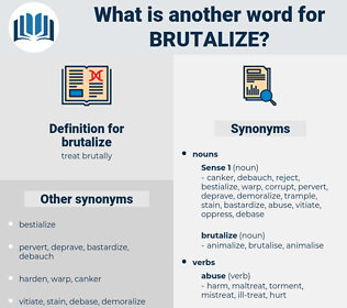 brutalize, synonym brutalize, another word for brutalize, words like brutalize, thesaurus brutalize