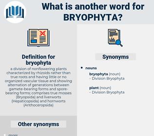 bryophyta, synonym bryophyta, another word for bryophyta, words like bryophyta, thesaurus bryophyta