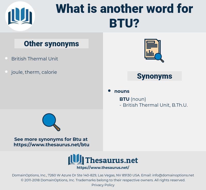 BTU, synonym BTU, another word for BTU, words like BTU, thesaurus BTU