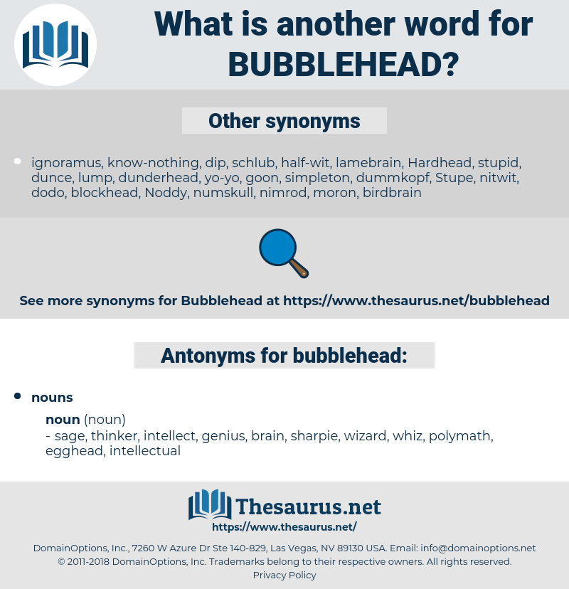 bubblehead, synonym bubblehead, another word for bubblehead, words like bubblehead, thesaurus bubblehead
