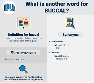 buccal, synonym buccal, another word for buccal, words like buccal, thesaurus buccal