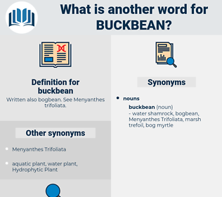 buckbean, synonym buckbean, another word for buckbean, words like buckbean, thesaurus buckbean