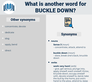 buckle down, synonym buckle down, another word for buckle down, words like buckle down, thesaurus buckle down