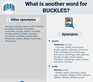 buckles, synonym buckles, another word for buckles, words like buckles, thesaurus buckles