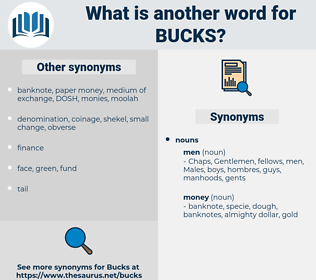 bucks, synonym bucks, another word for bucks, words like bucks, thesaurus bucks