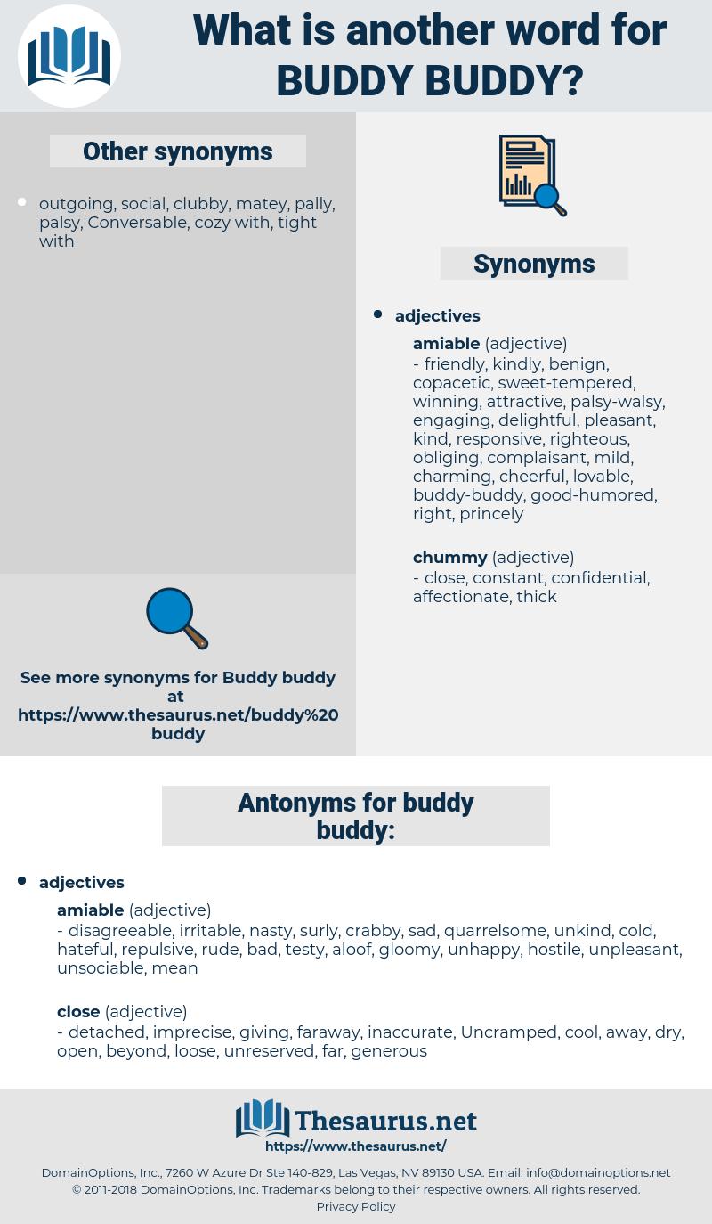buddy-buddy, synonym buddy-buddy, another word for buddy-buddy, words like buddy-buddy, thesaurus buddy-buddy