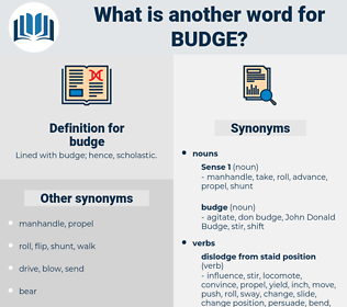 budge, synonym budge, another word for budge, words like budge, thesaurus budge