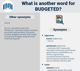 budgeted, synonym budgeted, another word for budgeted, words like budgeted, thesaurus budgeted