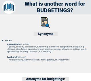 budgetings, synonym budgetings, another word for budgetings, words like budgetings, thesaurus budgetings