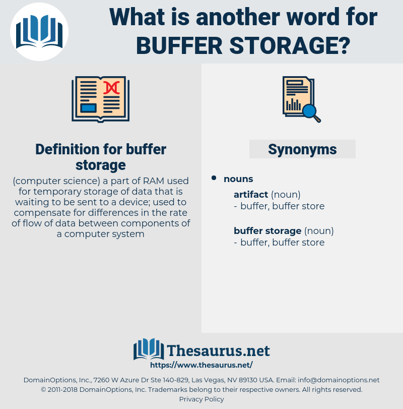 buffer storage, synonym buffer storage, another word for buffer storage, words like buffer storage, thesaurus buffer storage