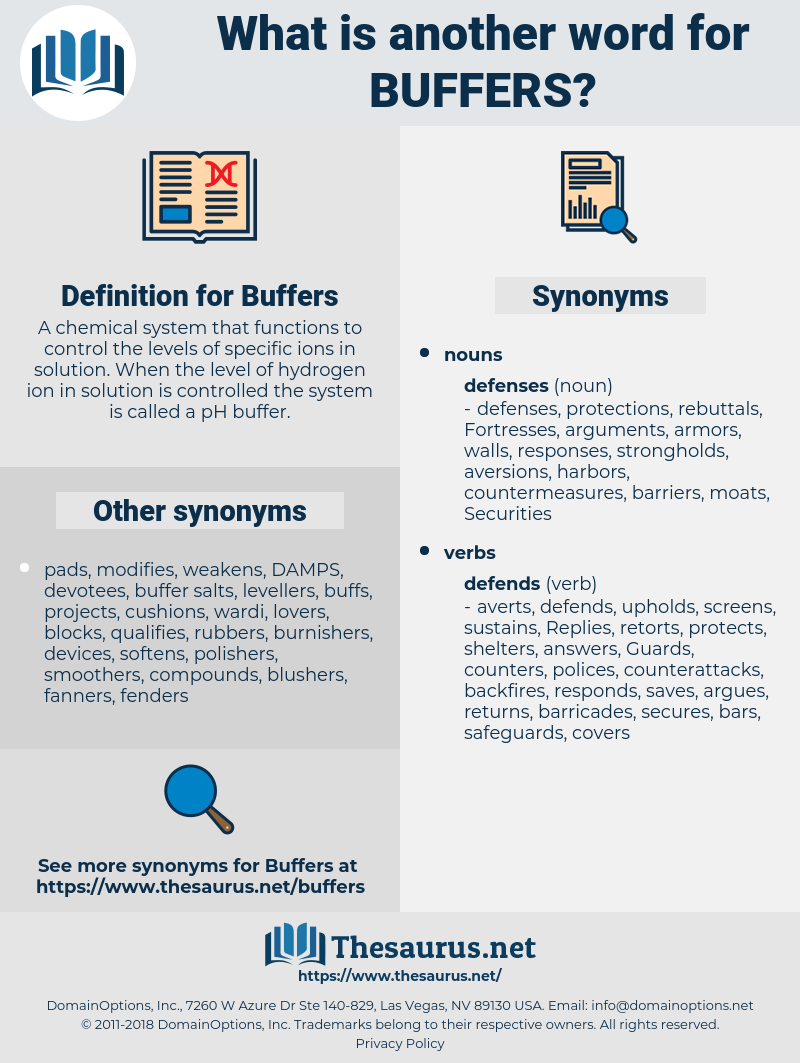 Buffers, synonym Buffers, another word for Buffers, words like Buffers, thesaurus Buffers