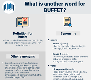 buffet, synonym buffet, another word for buffet, words like buffet, thesaurus buffet