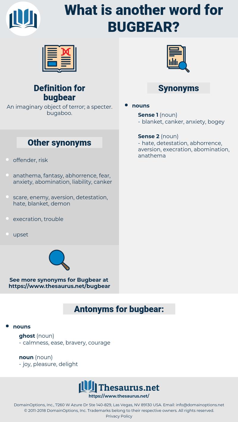 bugbear, synonym bugbear, another word for bugbear, words like bugbear, thesaurus bugbear