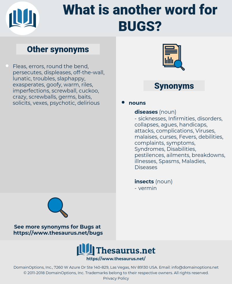 bugs, synonym bugs, another word for bugs, words like bugs, thesaurus bugs
