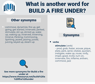 build a fire under, synonym build a fire under, another word for build a fire under, words like build a fire under, thesaurus build a fire under