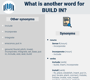 build in, synonym build in, another word for build in, words like build in, thesaurus build in