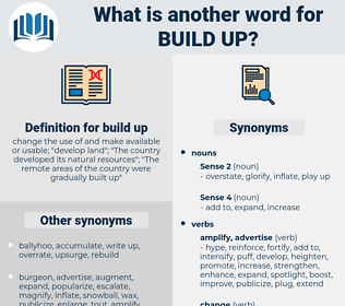 build up, synonym build up, another word for build up, words like build up, thesaurus build up
