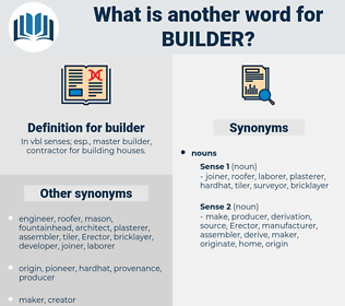 builder, synonym builder, another word for builder, words like builder, thesaurus builder