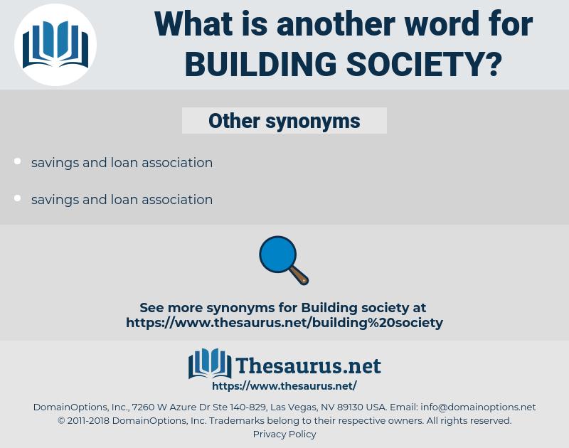 building society, synonym building society, another word for building society, words like building society, thesaurus building society