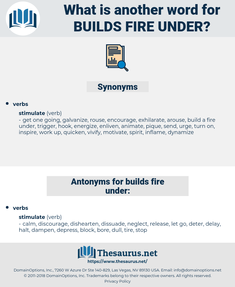 builds fire under, synonym builds fire under, another word for builds fire under, words like builds fire under, thesaurus builds fire under