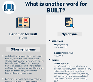 built, synonym built, another word for built, words like built, thesaurus built