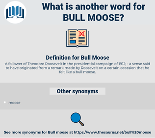 Bull Moose, synonym Bull Moose, another word for Bull Moose, words like Bull Moose, thesaurus Bull Moose