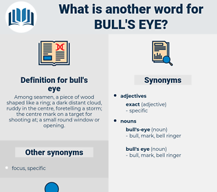 bull's eye, synonym bull's eye, another word for bull's eye, words like bull's eye, thesaurus bull's eye