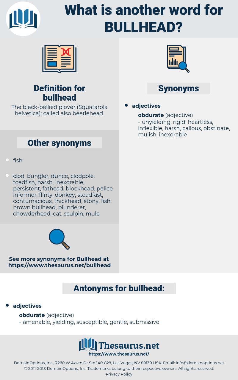 bullhead, synonym bullhead, another word for bullhead, words like bullhead, thesaurus bullhead
