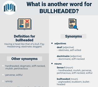 bullheaded, synonym bullheaded, another word for bullheaded, words like bullheaded, thesaurus bullheaded