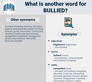 bullied, synonym bullied, another word for bullied, words like bullied, thesaurus bullied