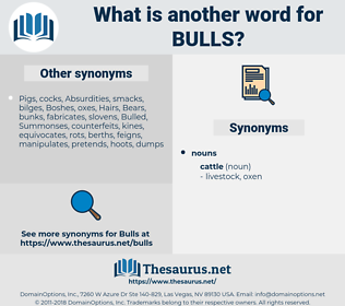 bulls, synonym bulls, another word for bulls, words like bulls, thesaurus bulls