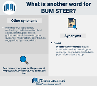 bum steer, synonym bum steer, another word for bum steer, words like bum steer, thesaurus bum steer