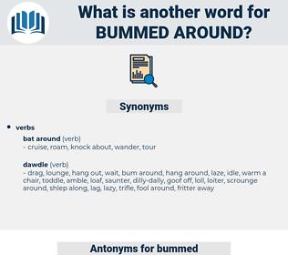 bummed around, synonym bummed around, another word for bummed around, words like bummed around, thesaurus bummed around