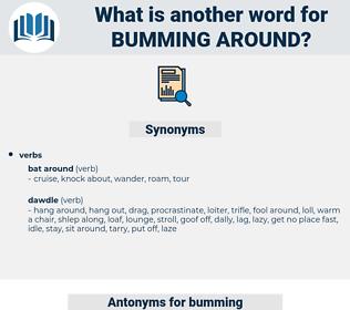 bumming around, synonym bumming around, another word for bumming around, words like bumming around, thesaurus bumming around