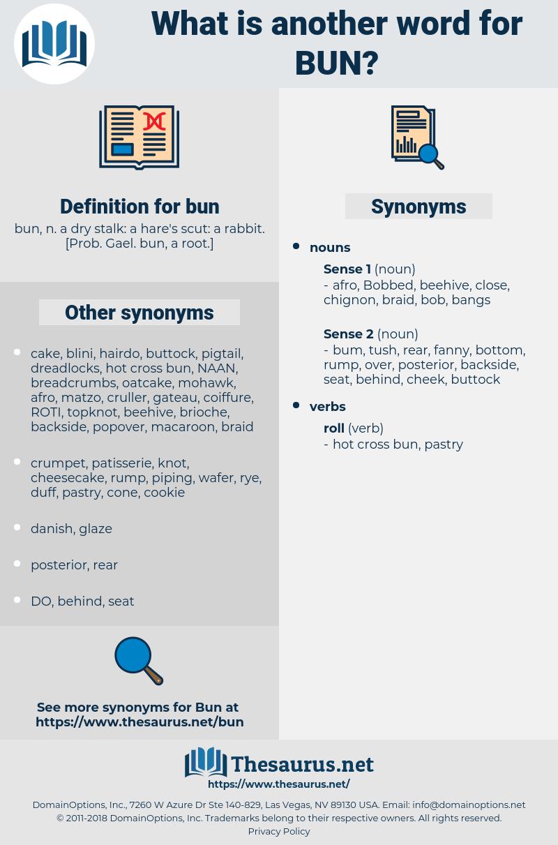 bun, synonym bun, another word for bun, words like bun, thesaurus bun